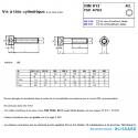 Vis BTR TCHC M3x12 inox A2 DIN 912