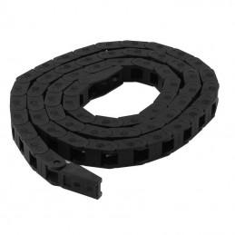 chaîne câble 7x7mm 1 mètre avec fixations
