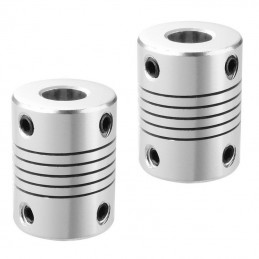 accouplement alu 5x8mm