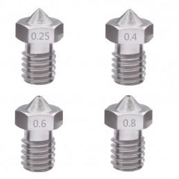 Buse inox V5/V6 1.75mm 0.25 0.4 0.6 0.8mm