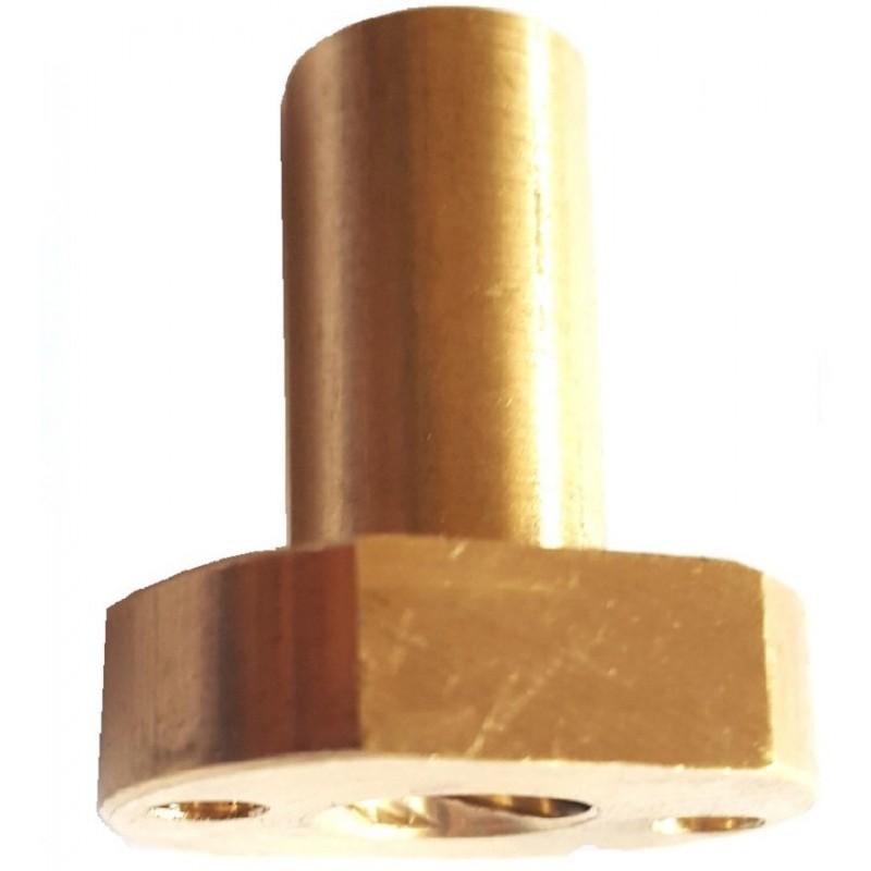 Écrou THSL 8mm pas 8mm long avec méplat