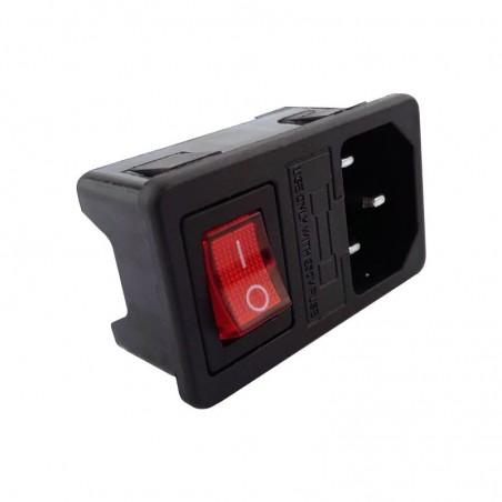 Connecteur mâle IEC C14 avec interrupteur et fusible