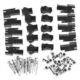 Lot de 10 connecteurs JST SM 2.54mm male femelle 2p