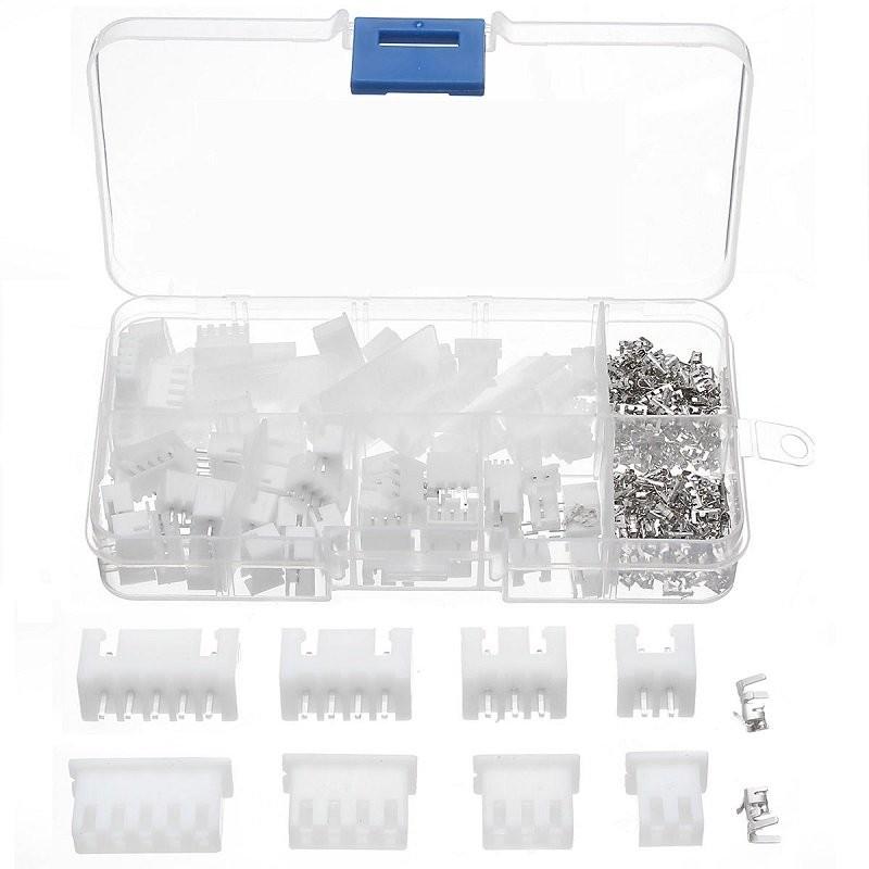 coffret connecteurs XH 2.54mm Male Femelle de 2 à 5 pins 215 pièces