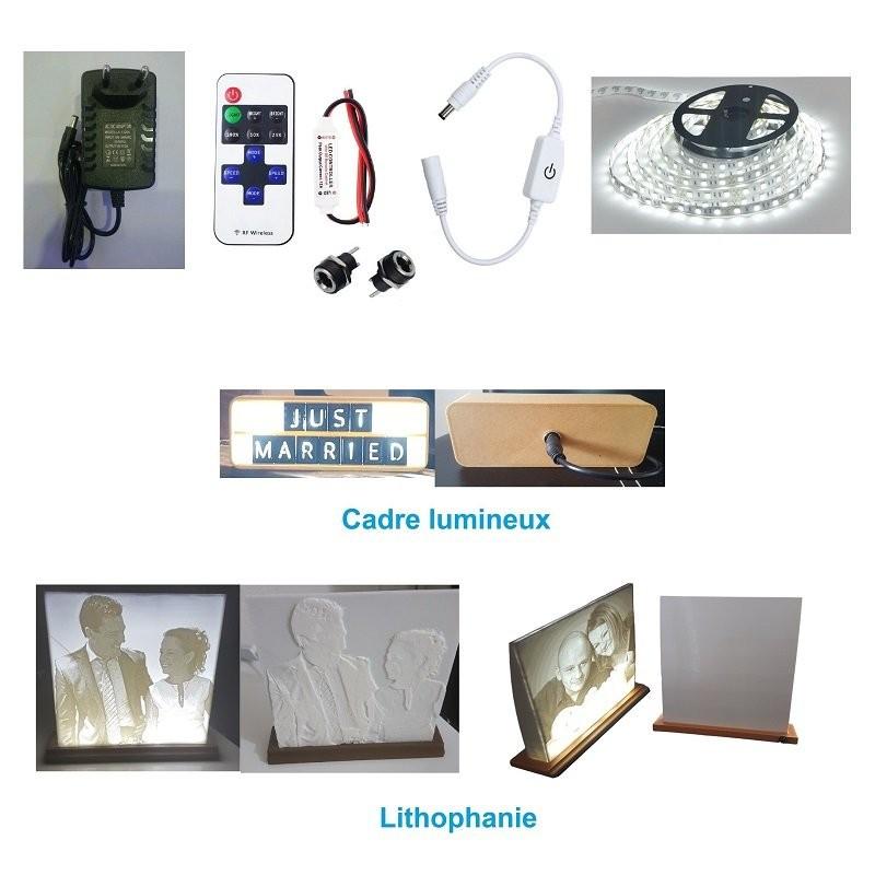 Kit éclairage led pour lithiphanie 3D