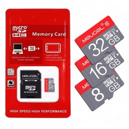 Carte micro SD 8, 16 ou 32 gigas avec adaptateur
