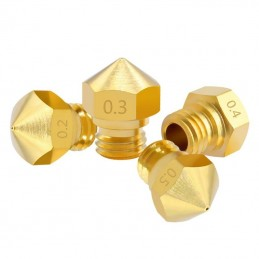 Buse laiton M7 pour extrudeur MK10 0.2 0.3 0.4 0.5mm 3d print nozzle