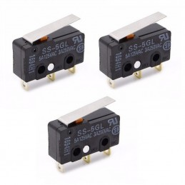 Lot de 3 micro-interrupteurs fin de course SS-5GL à souder