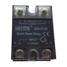 Relais statique SSR-25-DA entrée 3-32VDC sortie 24-380VAC 25A