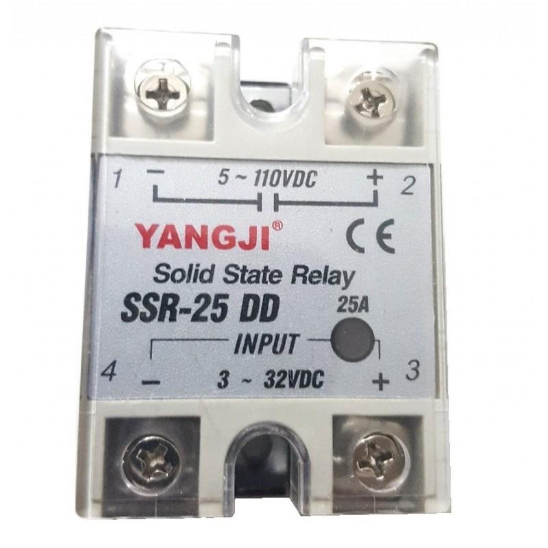 Relais statique SSR-25-DD entrée 3-32VDC sortie 5-60VDC 25A