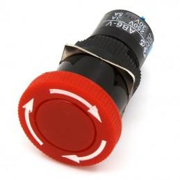 """Mini arrêt d'urgence type """"coup de poing"""" 16mm 250V"""
