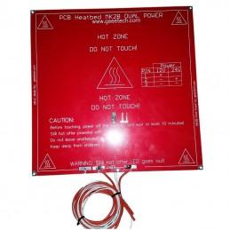 Plateau chauffant MK2B pré câblé 12v 200 x 200mm rouge ou blanc