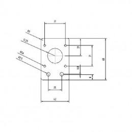 Support Alu moteur Nema 17 pour profilé alu 20x20 noir ou gris