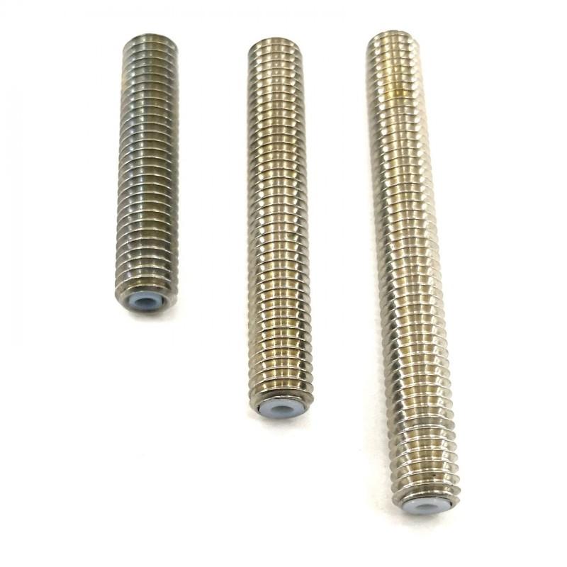 Heat break inox M6x30, 40 ou 50mm avec PTFE pour extrudeur MK8 MK9