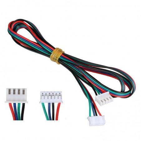 Câble moteur nema JST PH 6p 2mm - HX 2.54mm 4p 1 mètre