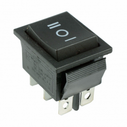 Interrupteur à bascule ON-OFF-ON permanent 15A 250V 28x22mm