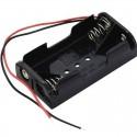 Boitier 2 piles LR6 AA (3 volts)