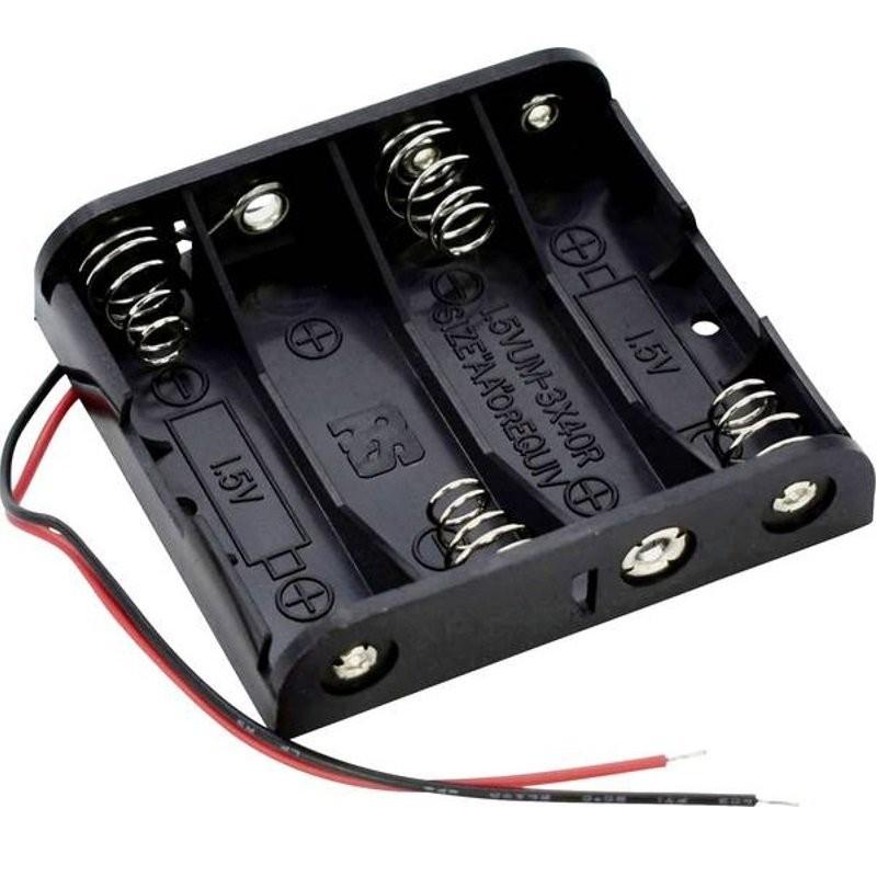 Boitier 4 piles LR6 AA (6 volts)