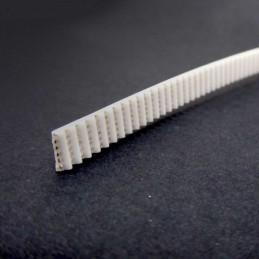 Courroie GT2 6mm blanche armée 1 Mètre