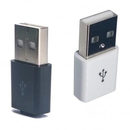 Prise USB 4P mâle à souder noir ou blanche