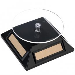 Mini présentoir rotatif solaire noir