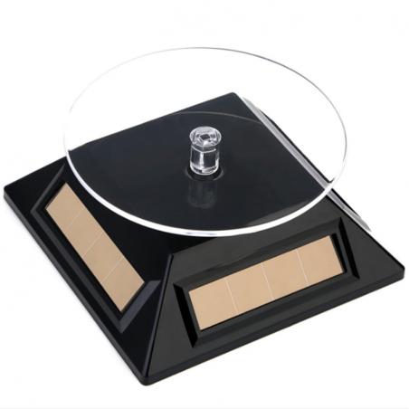 Mini présentoir rotatif solaire: noir ,blanc, gris, ou or