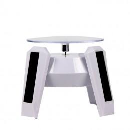Mini présentoir rotatif solaire blanc