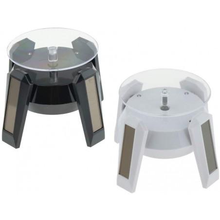 Présentoir rotatif solaire OVNI à LED