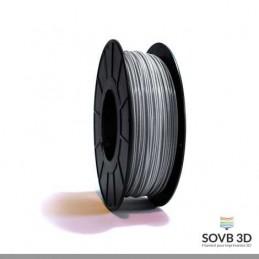 1.75mm SOVB3D PLA Gris aluminium 500g ou 1Kg
