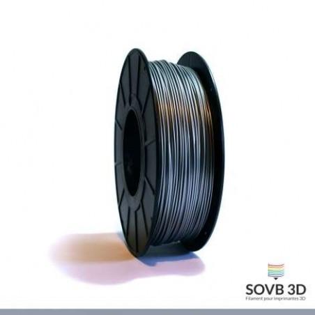 1.75mm SOVB3D PLA Gris argent 500g ou 1Kg