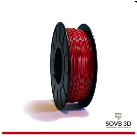 1.75mm SOVB3D PLA Rouge Aluminé 500g ou 1Kg