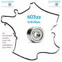 Roulement à billes 603ZZ 3x9x5mm générique